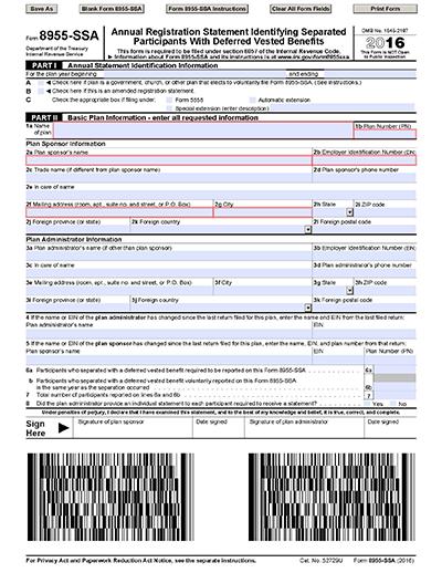 Understanding Responding To Participant Inquiries Form 8955 Ssa